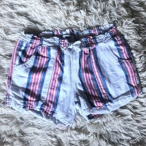 Girls old navy striped shorts